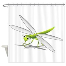 Cartoon Dragonfly Shower Curtain