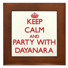 Keep Calm and Party with Dayanara Framed Tile