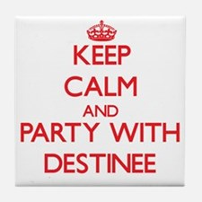 Keep Calm and Party with Destinee Tile Coaster