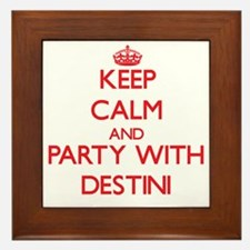Keep Calm and Party with Destini Framed Tile