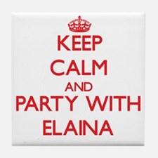Keep Calm and Party with Elaina Tile Coaster