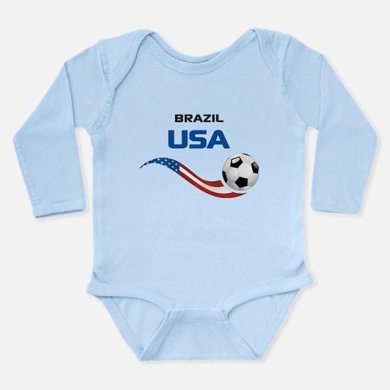 Soccer 2014 USA 1 Long Sleeve Infant Bodysuit