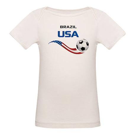 Soccer 2014 USA 1 Organic Baby T-Shirt