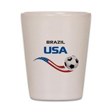 Soccer 2014 USA 1 Shot Glass