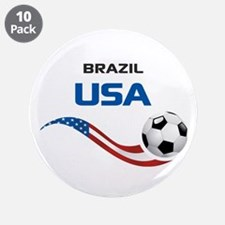 """Soccer 2014 USA 1 3.5"""" Button (10 pack)"""
