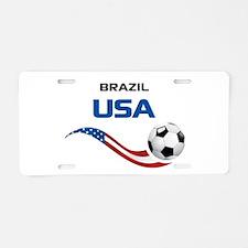 Soccer 2014 USA 1 Aluminum License Plate