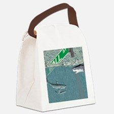 Sharks of Wall Street Canvas Lunch Bag