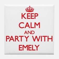 Keep Calm and Party with Emely Tile Coaster