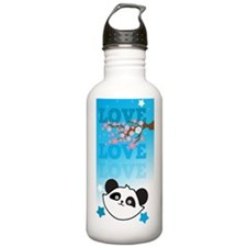 LOVE LOVE LOVE panda b Sports Water Bottle