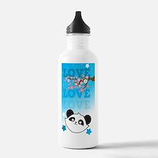 LOVE LOVE LOVE panda b Sports Water Bottle