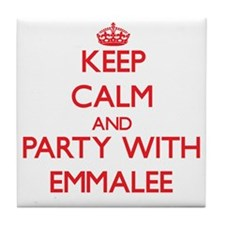 Keep Calm and Party with Emmalee Tile Coaster