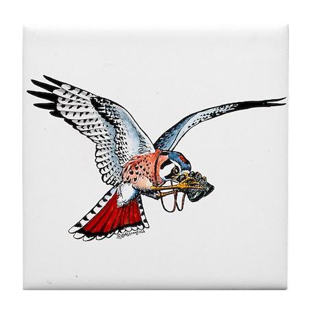 Birding Kestrel Tile Coaster