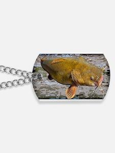 Flathead Catfish Rug Dog Tags