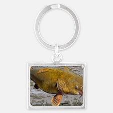 Flathead Catfish Rug Landscape Keychain