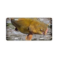 Flathead Catfish Rug Aluminum License Plate
