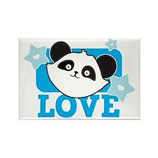 PANDA love Rectangle Magnet