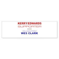 """""""Kerry/Edwards Supporter"""" Bumper Bumper Sticker"""