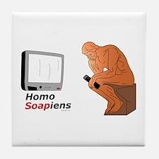 Homo Soapiens Tile Coaster