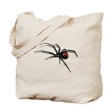 Red back spider Bags & Totes