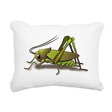 Green Cricket Rectangular Canvas Pillow
