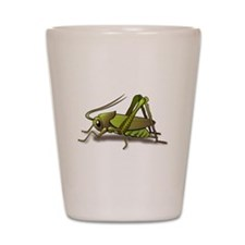 Green Cricket Shot Glass