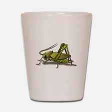 Green Cricket Shot Glass