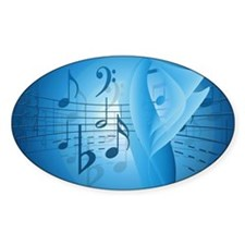 Music in Blue Decal