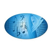 Music in Blue Oval Car Magnet