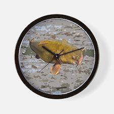 Catfish shower curtain Wall Clock
