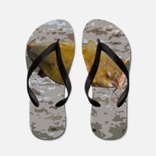 Catfish shower curtain Flip Flops