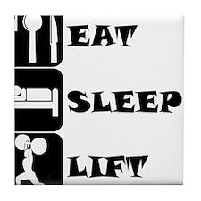 Eat Sleep Lift Tile Coaster