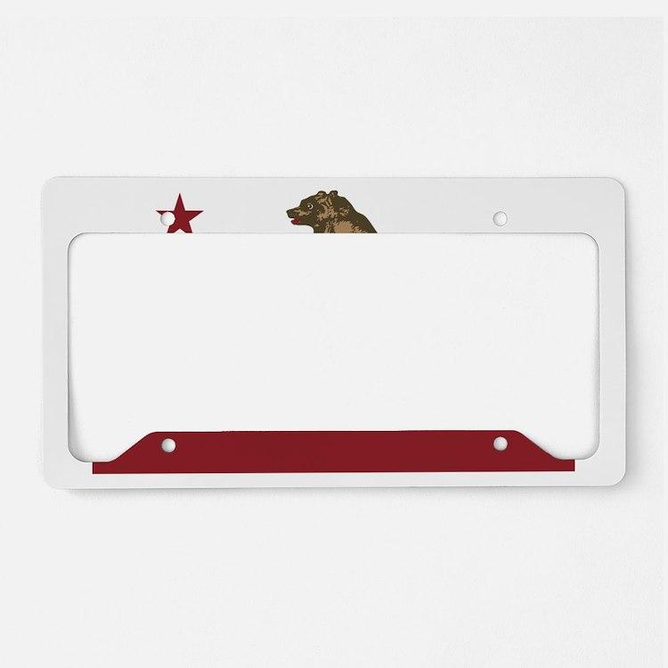 California Surfing Bear Longb License Plate Holder