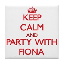 Keep Calm and Party with Fiona Tile Coaster