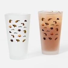 Catfish shower curtain Drinking Glass