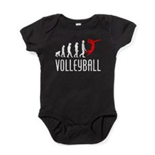 Volleyball Evolution (Red) Baby Bodysuit