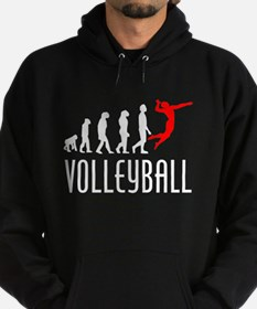 Volleyball Evolution (Red) Hoody