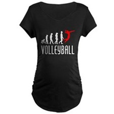 Volleyball Evolution (Red) Maternity T-Shirt