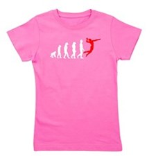 Volleyball Evolution (Red) Girl's Tee