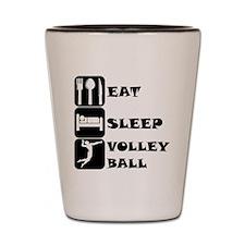 Eat Sleep Volleyball Shot Glass