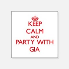 Keep Calm and Party with Gia Sticker