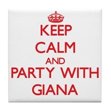 Keep Calm and Party with Giana Tile Coaster