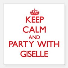 Keep Calm and Party with Giselle Square Car Magnet