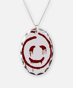 Red John Smiley Face Necklace