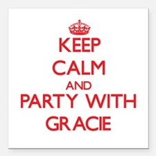 Keep Calm and Party with Gracie Square Car Magnet