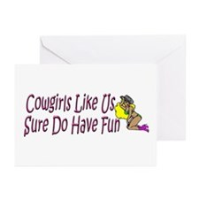 Cowgirls 1 Greeting Cards (Pk of 10)