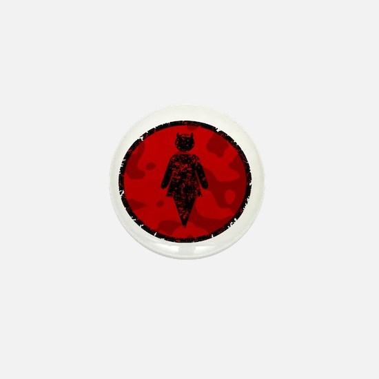 Fightgirl Logo Red Camo Mini Button