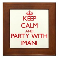 Keep Calm and Party with Imani Framed Tile