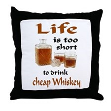 WHISKEY Throw Pillow