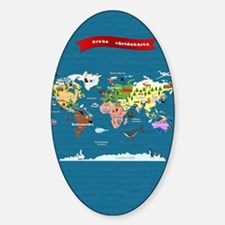 World Map For Kids - Swedish Decal