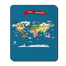 World Map For Kids - Swedish Mousepad